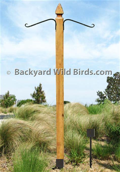 post hanging plant pole