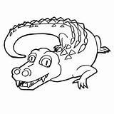 Crocodile Coloring Cartoon Krokodil Alligator Film Clip Kleuren Het Leuke Karikatur Netter Beeldverhaal Pagina Africa Sveglio Coloritura Fumetto Vettore Della sketch template