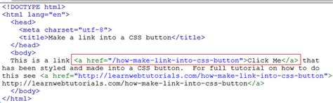 How Make Link Into Css Button Learn Web Tutorials