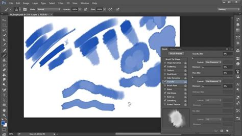 Photoshop Top Tip Create Your Own Watercolor Brush Youtube