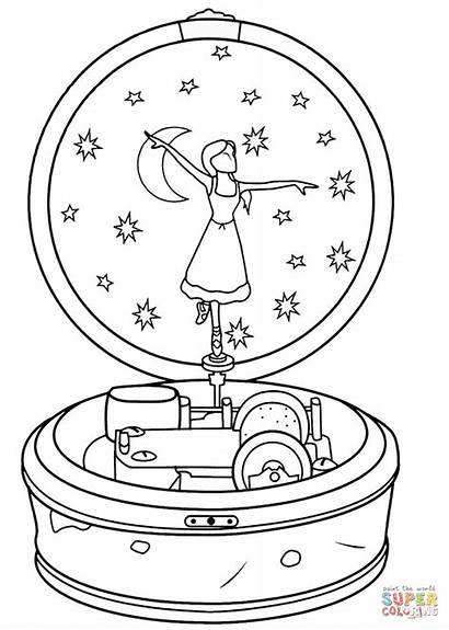 Ballerina Coloring Box Pages Leap Printable Drawing