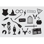 Potter Harry Icons Vector Wand Wizard Vectors