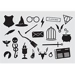 Potter Harry Icons Vector Wand Wizard Vectors