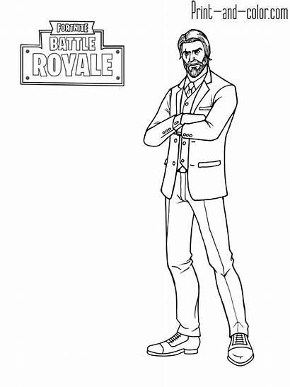 Fortnite Coloring Pages Dire Battle Royale Omega