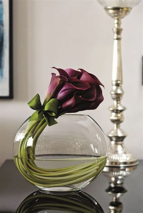 Cool Flower Vases by Ooooh I Kinda Like This Burgundy Callas Curved In A