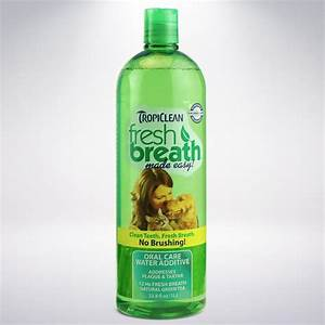 Amazoncom tropiclean fresh breath plaque remover pet for Dog dental water additive