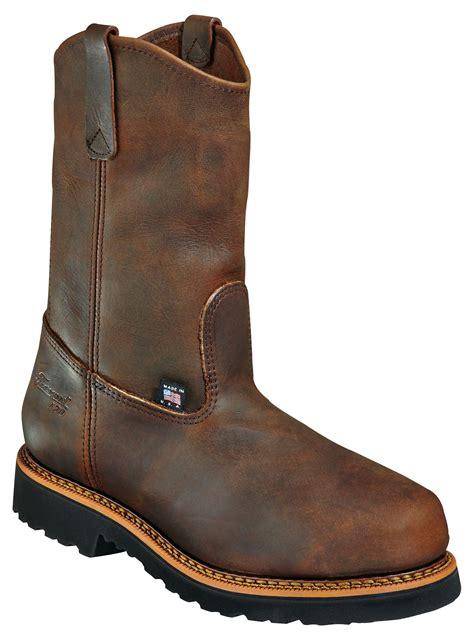 safest motorcycle boots thorogood 11 quot wellington plain safety toe boots revzilla