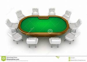 Poker Table With Chairs Top View Stock Illustration ...