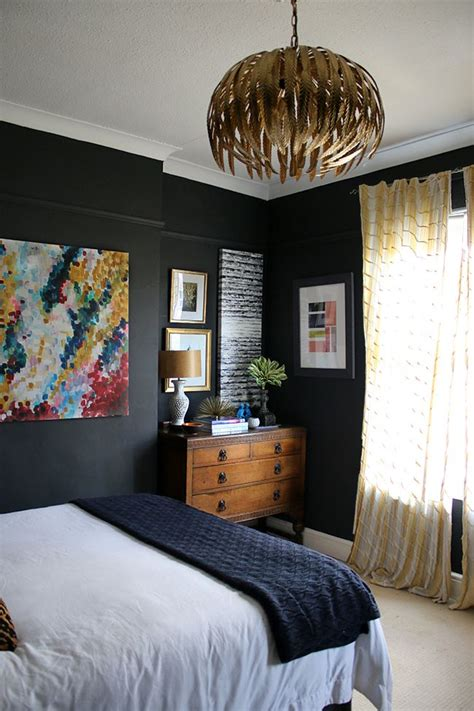 Black Bedroom Wall by My New Gold Glam Light Fixture In The Bedroom Walls