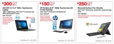 sams club desktop computers costco black friday ad leaks with numerous laptop desktop