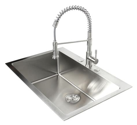 sink stainless steel kitchen 33 inch top mount drop in stainless steel single bowl 5288