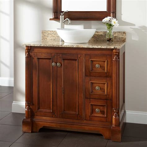 vanity cabinet 30 quot reese walnut vessel sink vanity bathroom