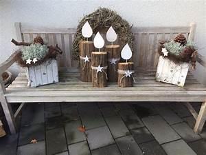 Weihnachtsdeko Ideen Für Draußen : weihnachtsdeko adventskranz f r drau en diy kerzen aus ~ Articles-book.com Haus und Dekorationen