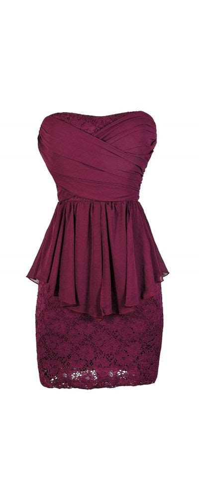 chiffon and lace flowy peplum pencil dress in magenta www
