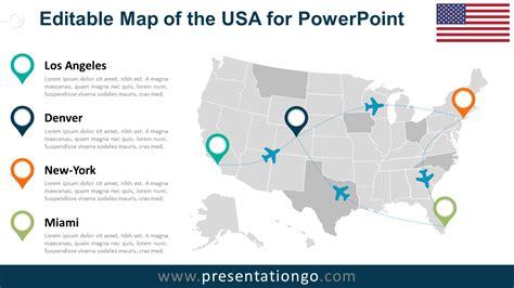 usa editable powerpoint map presentationgocom