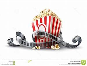 Unique Paper Bag Popcorn Movie Reel Image