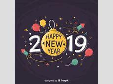Fondo de año nuevo 2019 en diseño dibujo a mano