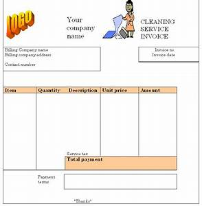 cleaning service invoice template invoice templates With janitorial invoice template