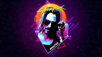 Cyberpunk 2077 Keanu Reeves Retro 4k Wallpapers