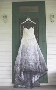 Charcoal touch stunning ombre wedding dresses livingly for Charcoal dresses for weddings