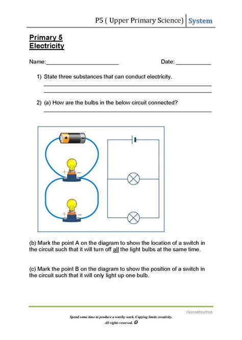 p5 science electric circuits