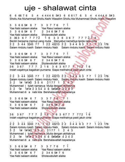 not angka pianika lagu korea not angka lagu shalawat cinta uje not angka lagu terbaru