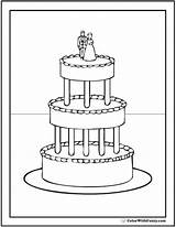 Cake Coloring Pages Elegant Printables Colorwithfuzzy sketch template