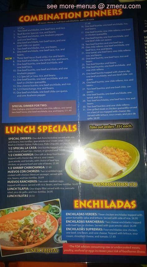menu  la carreta express restaurant weber city