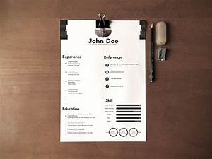 How To Make A Perfect Resume Free Black White Minimalistic Resume Cv Design