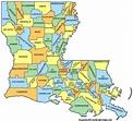 Louisiana Counties Map - Louisiana • mappery