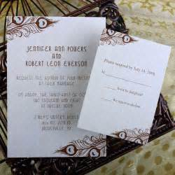 wedding invitations with pictures cheap peacock wedding invitations