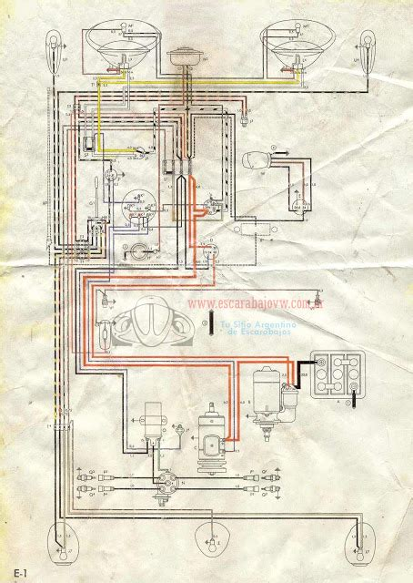 1957 Bug Wiring Diagram by Vw Air Cooled Sistemas Electricos