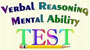 Verbal Reasoning Mental Ability Test