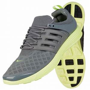 Nike Lunar Rejuvenate Low Trainers Grey Lime Green