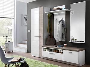 Moderne Garderobe Mit Bank : dublin bank gro inkl sitzkissen wei taupe ~ Bigdaddyawards.com Haus und Dekorationen