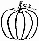 Pumpkin Blank Coloring Template Popular sketch template