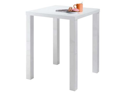 table blanche de cuisine table de bar