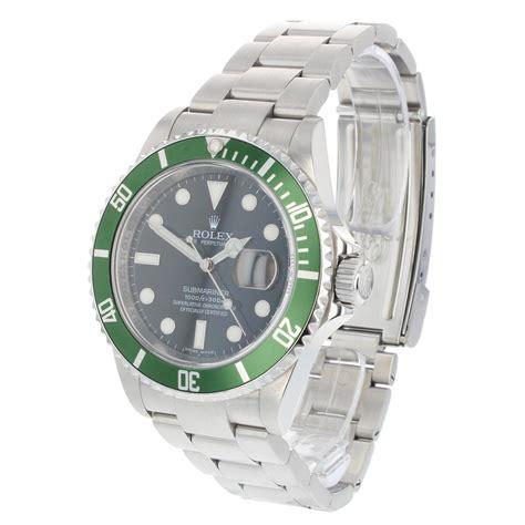 Pre Owned Watch Rolex Kermit Submariner Ref 16610LV ...
