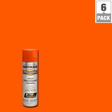 orange paint color in home depot commercial rust oleum professional 15 oz gloss white spray paint 7592838 the home depot