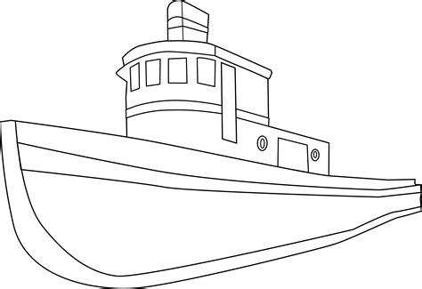 Boat Drawing Outline by Ship Coloring Page Free Clip