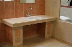Waschbecken Mit Ablage : waschbecken mit ablage rechts und links in r tlichem ~ Lizthompson.info Haus und Dekorationen