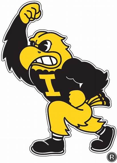 Iowa Hawkeye Hawkeyes Mascot Logos Herky Football