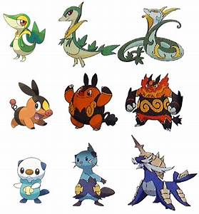 Pokemon Starter Evolutions Leaked Poku00e9mon Blackwhite