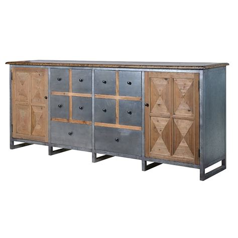 Metal Sideboards by Wood And Metal Large Sideboard Furniture La Maison Chic