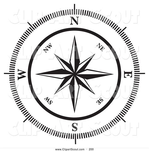 compass black and white compass and map clipart free clip clipart bay