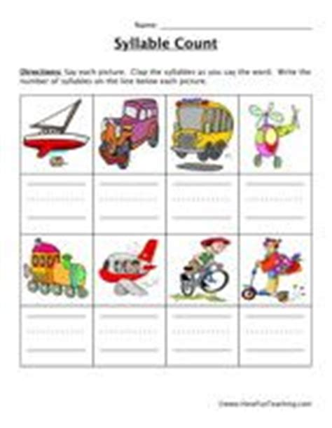 syllables images syllable phonics teaching