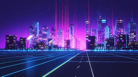 80s Neon City Wallpaper by Neon 80s Wallpaper On Wallpaperget