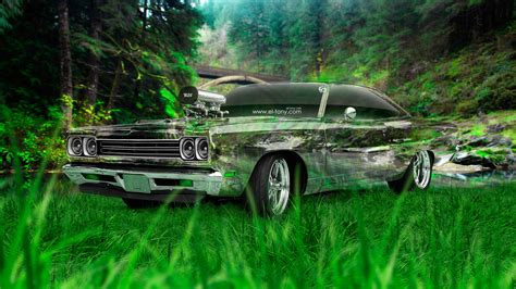 plymouth road runner  tuning muscle crystal nature car