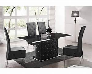 Salle A Manger Noir : table de salle a manger design table ronde cuisine maisonjoffrois ~ Teatrodelosmanantiales.com Idées de Décoration