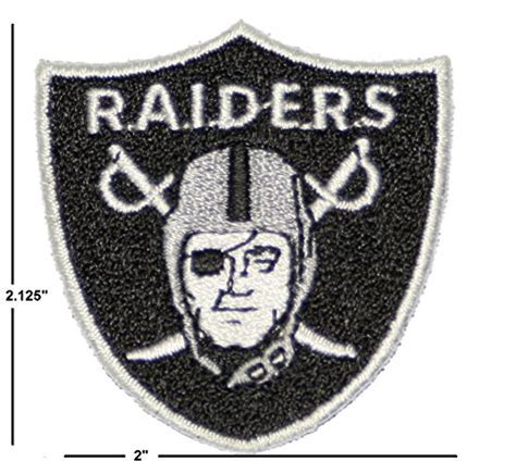 Oakland Raiders Iron on Patch 100% Embroidered NFL
